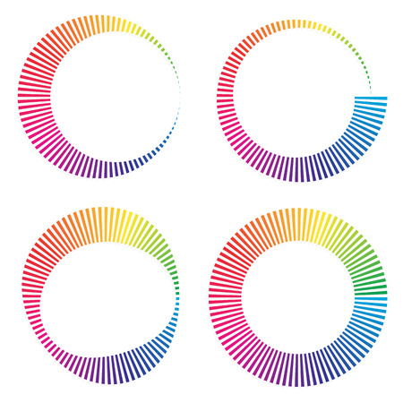 buffer: Circular color wheels or buffer shapes