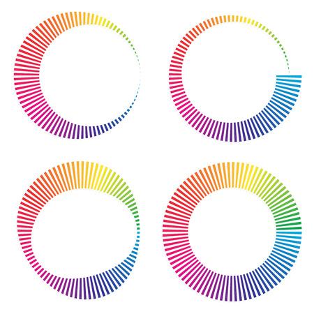 Circular color wheels or buffer shapes