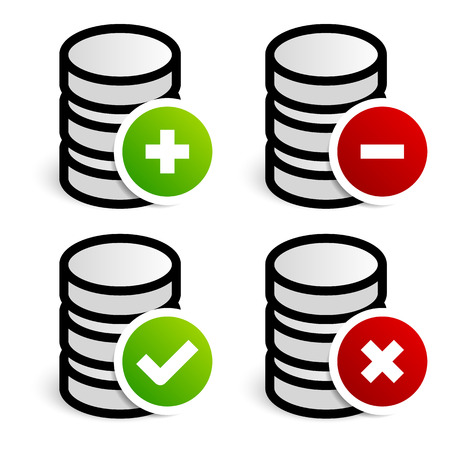 datacentre: Database, archive editing symbols