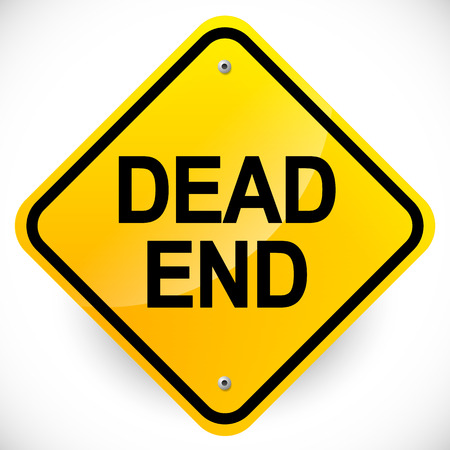Road sign with Dead end text