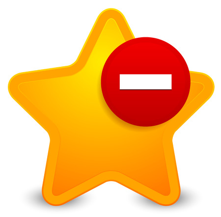 favourites: Remove from favourites icon Illustration