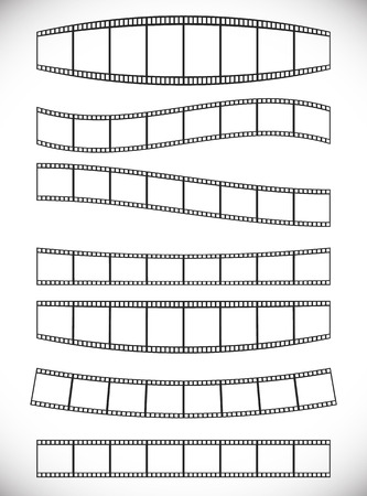 Film strips with effects Vector