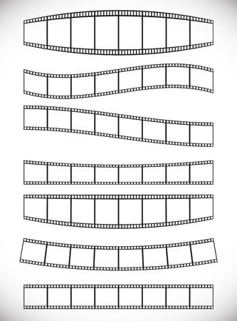 roll film: Tiras de pel�cula con efectos