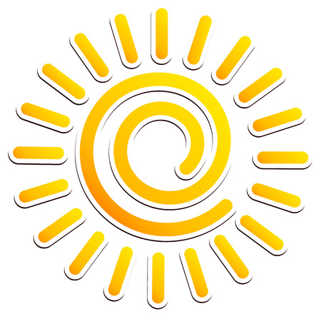meterology: Cool, swirling sun clipart
