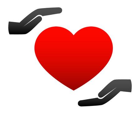 Hands holding heart Vector