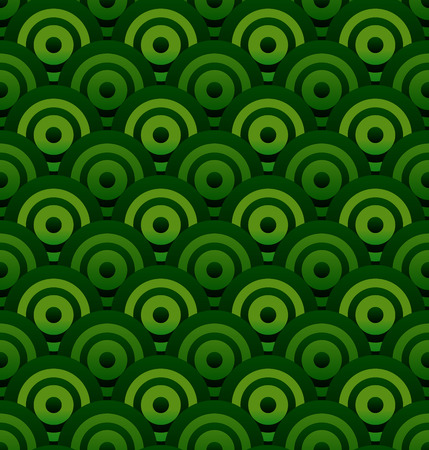 repetition dotted row: Stylish green circle background (it can be repeated) Illustration