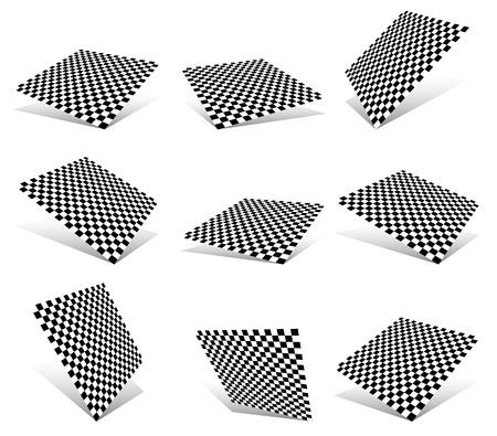 Checkered planes set Vector