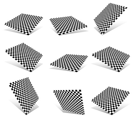 spherule: Checkered planes set Illustration