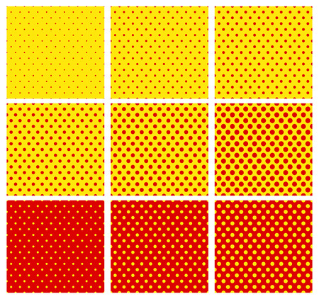 warhol: Pop art pattern. 9 variation. Can be repeated.