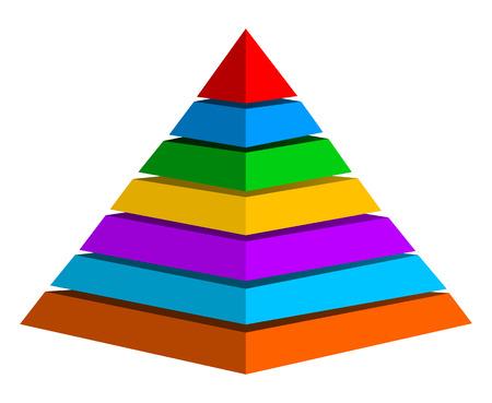 tiered: Multicolor pyramid Illustration