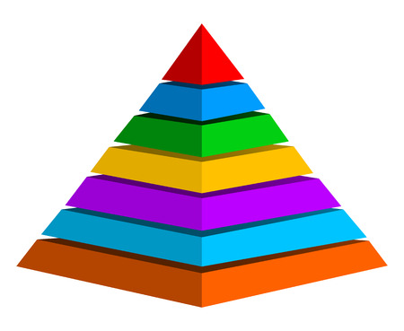 Multicolor pyramid Illustration