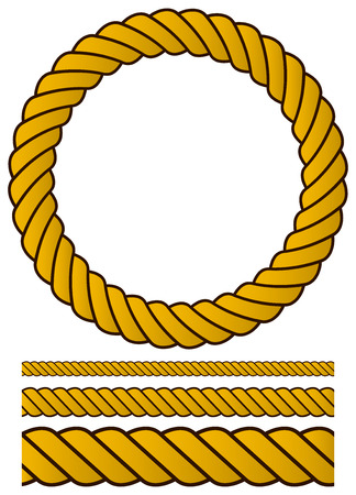 Rope vector set. Illustration