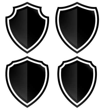 Diferentes formas de escudo Vectores