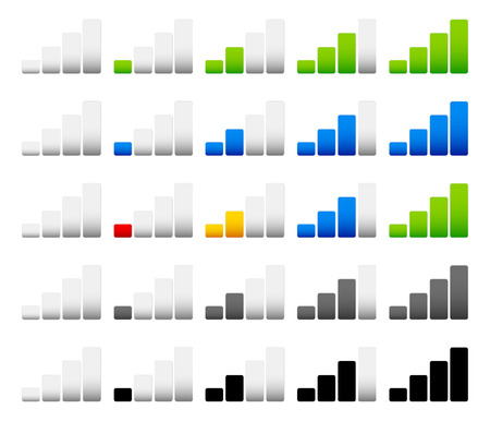 mobil: Stijlvolle, moderne signaalsterkte indicatoren