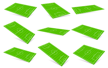 3D Soccer fields - Soccer fields in different angles
