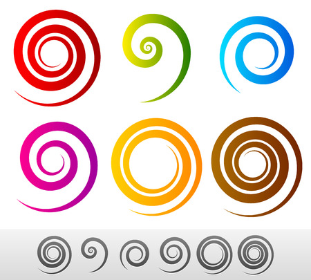 Colorful spirals Illustration
