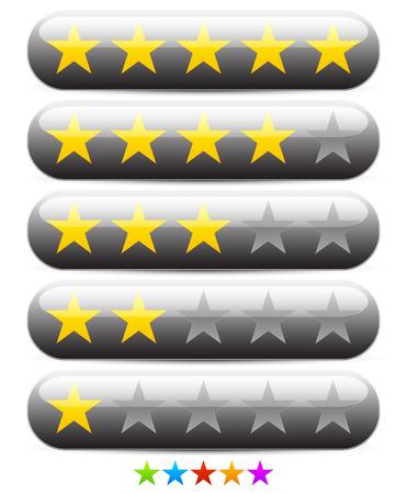 good judgment: Stylish star rating template Illustration