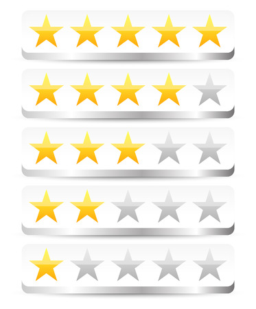 appraise: Stylish star rating template Illustration