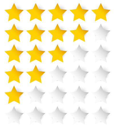 star rating: Stelle Elegante modello voto