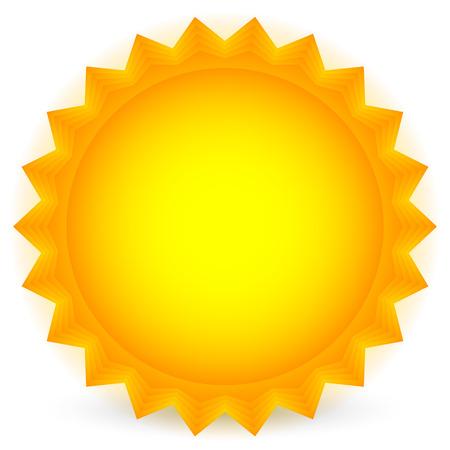 sumer: Sun vector. Glowing sun on white. vector illustration