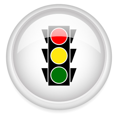 trafic stop: Classic traffic lamp icons. vector illustration.