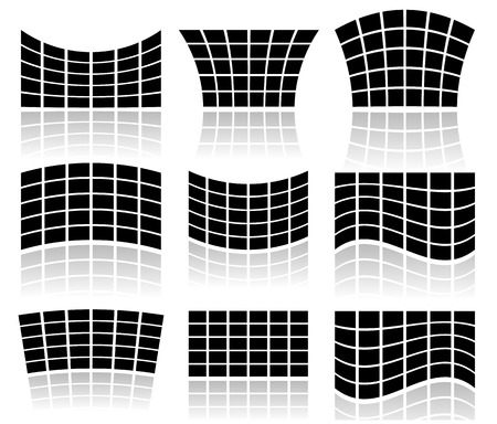 Abstract equalizer bars or 2d video walls
