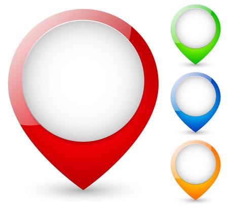 designator: Modernos marcadores de mapa. ilustraci�n vectorial Vectores