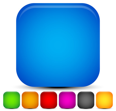 vivid colors: Bright, vivid rounded square backgrounds. 7 colors.