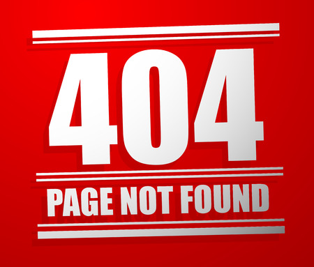 Http header code, status message: Not found. 404 page not found Vector