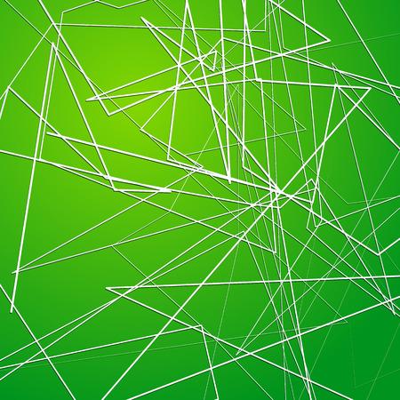 random: Random, irregular angular lines