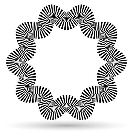 eyestrain: Wavy checkered shape (eps10) Illustration