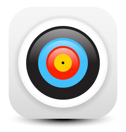 Minimal modern archery target icon
