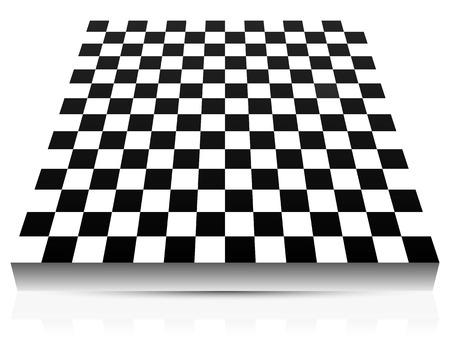 3D empty abstract chessboard Vector