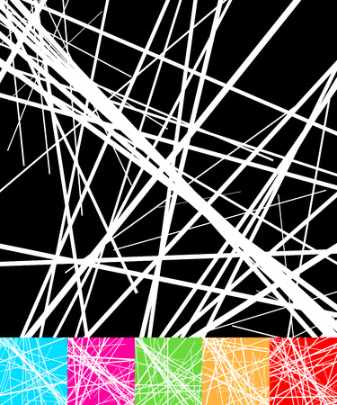 Set of backgrounds with randomly placed lines. Abstract vector illustration. Vector