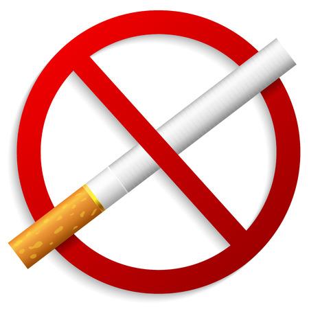 tachado: No fumar signo  Vectores