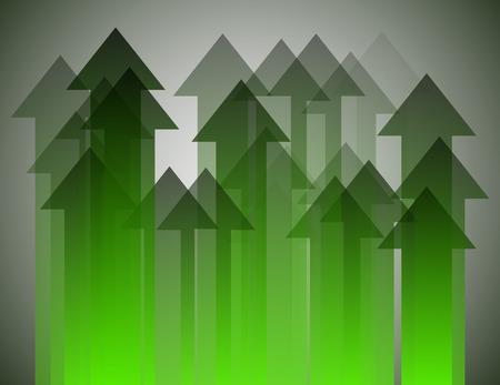 pointing up: Gruppo di freccia verde rivolta verso l'alto