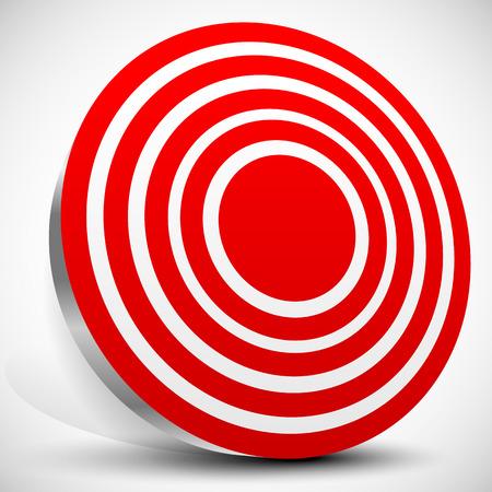 Set of 3d target graphics