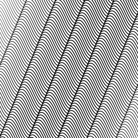 undulating: Wavy, undulating lines. Abstract vector