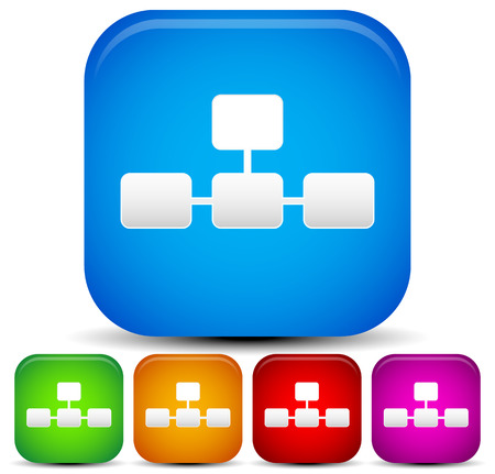 Bright, vivid topology, sitemap icon