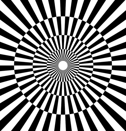 contrasty: Radiating lines contrasty pattern. checkered circle Illustration