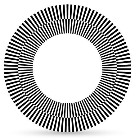 alternating: Alternando formas negro, blanco despu�s de un c�rculo.  C�rculo cuadros