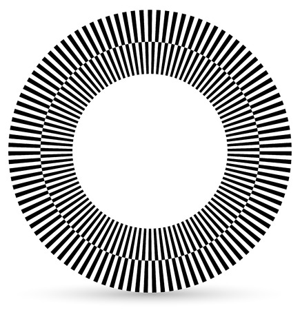 eyestrain: Alternating black, white forms following a circle. checkered circle