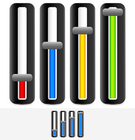 Vertical sliders, adjusters Illustration