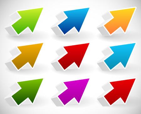 arow: Colorful 3d arrow set