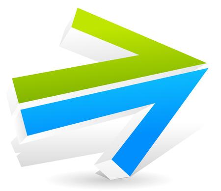 fl�che double: Double fl�che vers la droite avec des couleurs fra�ches. Illustration