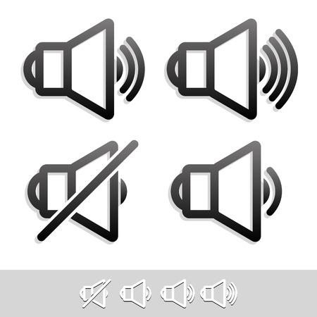 multi media: Eps 10 speaker simbolo set