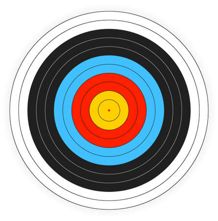 bows: Printable archery target background. Illustration