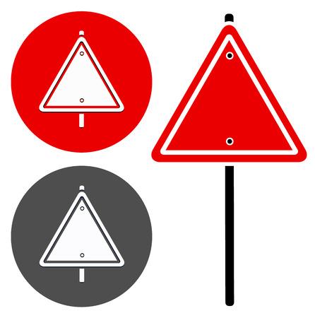 trafic: Blank trianglular road sign (stylized version)