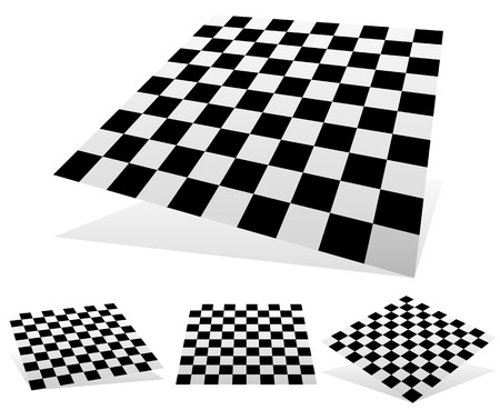 Checkered planes with shadows and shading
