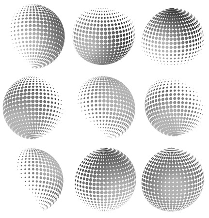 globular: Halftone spheres Illustration